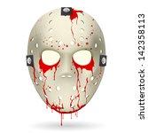 bloody hockey mask....
