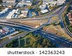 aerial view of brisbane ... | Shutterstock . vector #142363243