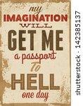 vintage typography vector... | Shutterstock .eps vector #142385137