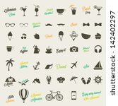 summer icon set | Shutterstock .eps vector #142402297