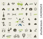 Summer Camping  Icon Set