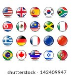 a collection of world badges... | Shutterstock .eps vector #142409947