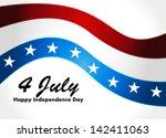american flag  patriotic wave... | Shutterstock .eps vector #142411063
