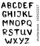 vector alphabet. hand drawn ink ... | Shutterstock .eps vector #142422217