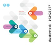 modern design of a banner with... | Shutterstock .eps vector #142425397
