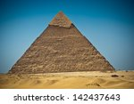 great pyramid of giza  egypt | Shutterstock . vector #142437643