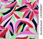seamless beach party pattern... | Shutterstock . vector #142438687