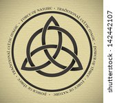 black triquetra symbol on... | Shutterstock .eps vector #142442107