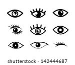 eye designs over white... | Shutterstock .eps vector #142444687