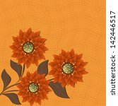 abstract floral illustration.... | Shutterstock . vector #142446517