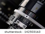 camera lens scale close up.... | Shutterstock . vector #142503163
