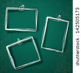 set of photo frames on abstract ...