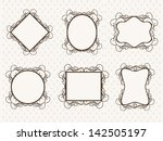 set of photo frames on abstract ... | Shutterstock .eps vector #142505197