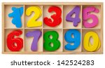 color cards with numbers in a... | Shutterstock . vector #142524283