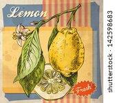 Retro Card Design With Lemon