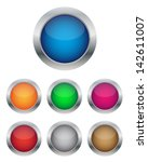 glossy buttons | Shutterstock .eps vector #142611007
