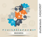 business concept icons with... | Shutterstock .eps vector #142624507