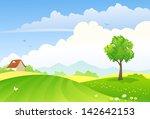 vector illustration of green... | Shutterstock .eps vector #142642153