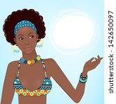 portrait of beautiful african...   Shutterstock .eps vector #142650097