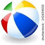 beach ball | Shutterstock .eps vector #142654033