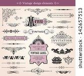 vintage calligraphic design... | Shutterstock .eps vector #142657513