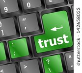 computer keyboard with trust... | Shutterstock . vector #142658023