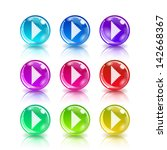 set of colorful icons with...