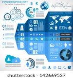 infographic elements   set of... | Shutterstock . vector #142669537