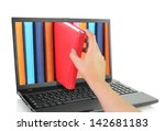 online learn. laptop computer... | Shutterstock . vector #142681183