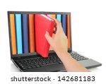 online learn. laptop computer... | Shutterstock . vector #142681183