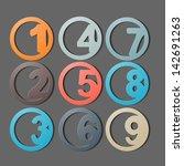 numbers 1 9 | Shutterstock .eps vector #142691263