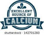 excellent source of calcium... | Shutterstock .eps vector #142701283