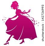 silhouette of cinderella... | Shutterstock .eps vector #142726993