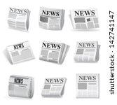 newspaper icon. vector | Shutterstock .eps vector #142741147