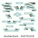 vintage ribbons collection   Shutterstock .eps vector #142741153