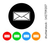 letter icon with four color... | Shutterstock .eps vector #142759207