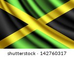 waving flag of jamaica  vector | Shutterstock .eps vector #142760317