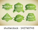 premium quality labels... | Shutterstock .eps vector #142760743