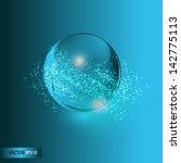 silver  beckground   Shutterstock .eps vector #142775113