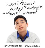a curious teenager with many... | Shutterstock . vector #142785313