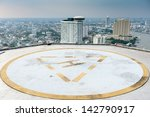 Helipad On Roof Top Building