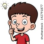 vector illustration of boy with ... | Shutterstock .eps vector #142791877