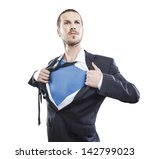 young businessman acting like a ... | Shutterstock . vector #142799023