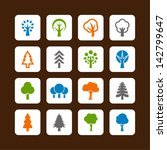 tree icons | Shutterstock .eps vector #142799647