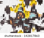 digital structure of painting.... | Shutterstock . vector #142817863