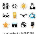 summer beach holidays vector... | Shutterstock .eps vector #142819207