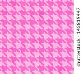 Pink Hounds Tooth Textured...