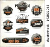 premium quality labels | Shutterstock .eps vector #142831063