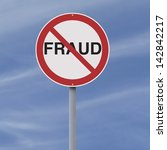 a modified road sign on fraud     Shutterstock . vector #142842217