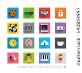 flat icon designs  ... | Shutterstock .eps vector #142854997